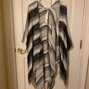 NWT. Urban Outfitters Black & White Coverup/Shawl